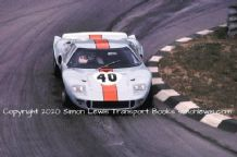 Ford GT40 Gulf JW.  Hawkins/Hobbs Monza 1000kms 1968 (winner)  colour action photo